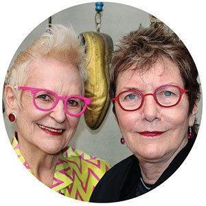 Barbara McReynolds and Gai Gherardi