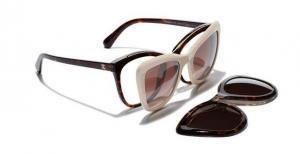 Chanel clip on sunglasses optical
