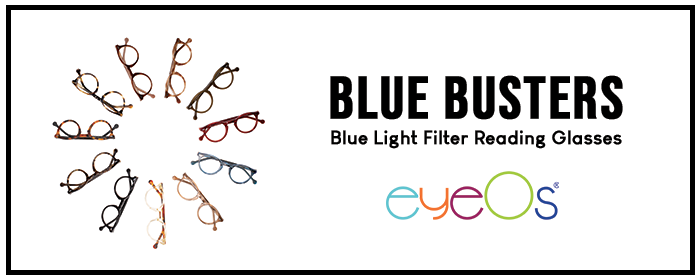 eyeOs blue light filtering readers