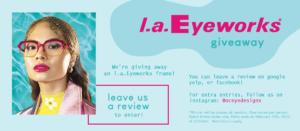 l.a. Eyeworks giveaway free frames