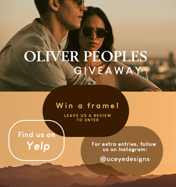 Oliver Peoples giveaway - review us to enter