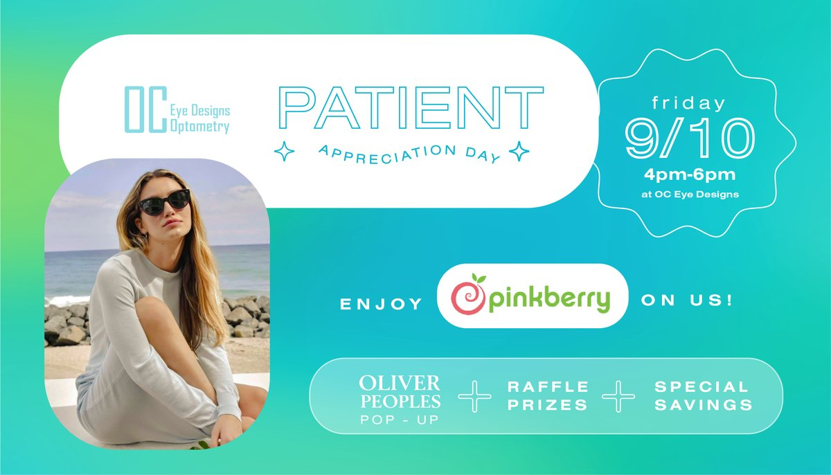Patient Appreciation Day with Oliver Peoples pop-up
