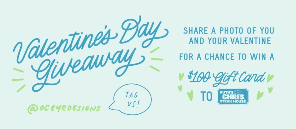 Valentine's Day giveaway Costa Mesa Ruth's Chris Steakhouse